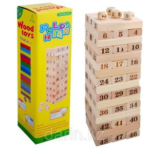 Игра Дженга Wood Toys Folds High Цифры