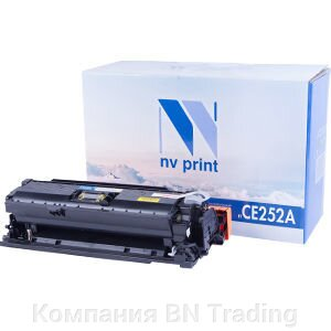 Картридж HP CE252A for CP3525/CM3530 Yellow. от компании Компания BN Trading - фото