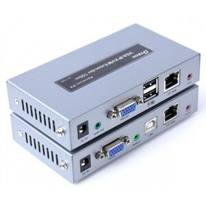 Удлинитель VGA IP KVM Extender DT-7062 150m with IR and Audio, 1920*1080@60Hz Dtech